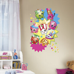 SHOPKINS GiaNT GRAPHIC WALL DECALS NeW 32quot; Girls Bedroom Stickers Pink Decor $19.99