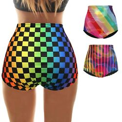 HDE Women's Plus Size Rave Shorts – High Waisted Rave Bottoms Cute Booty Shorts