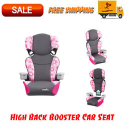 Evenflo Big Kid Sport High Back Booster Car Seat Peony Playground Safety Seats $47.95
