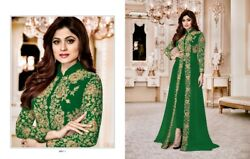 Green Muslim Abaya party wear Long Dress Anarkali Salwar Suit Ready to wear EID $137.95