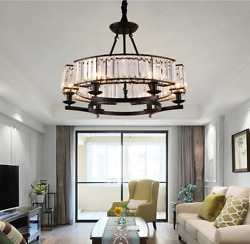 Crystal E14 6 Light Chandelier Home Lighting Ceiling Fixtures Bedroom Decor Lamp $139.64