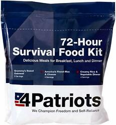 4Patriots 72 Hour Food Supply Kit Survival Emergency 16 Servings $26.99