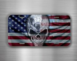 USA Punisher Skull Vehicle License Plate Front Auto Car Tag Decor Bumper WH19 $16.95