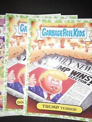 Garbage pail kids Adamgeddon Puke Green Border Complete Set Of 180 Cards All... $85.00