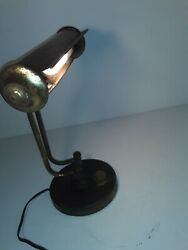 Vintage Antique OrganPiano Lamp Adjustable Arms Bankers Desk Lamp works great $18.85