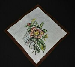 vintage handkerchief HANKY flower print SHABBY HOME CHIC scent to carry DRAMA 1 $9.00
