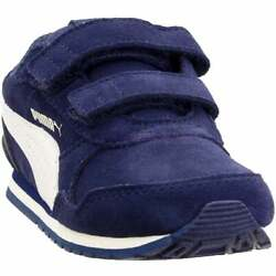 Puma ST Runner V2 Suede Infant Sneakers Casual Navy Boys $18.77