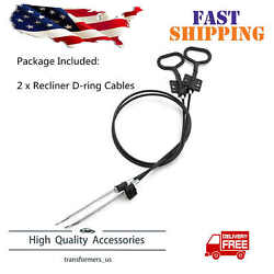 2Pcs Sofa Recliner Cables Recliner Release Pull Cables D-Ring Handle Replacement $8.99