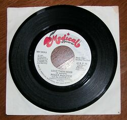 Love Them Hogs & Redskin Fever - Roger McDuffie and the Naturals–45 RPM–Signed