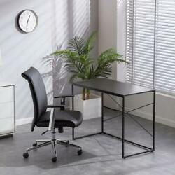 Home Office Computer Desk Writing Modern Simple Study Industrial Style Black New $61.95