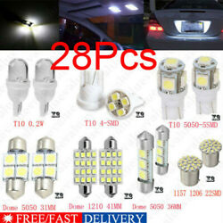 28Pcs Auto Car Interior LED Light Dome License Plate Mixed Lamp Set Accessories~ $8.59