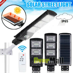 10000LM All in One Solar Street Light Commercial Outdoor IP67 Area Security Lamp