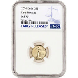2020 American Gold Eagle 110 oz $5 - NGC MS70 Early Releases