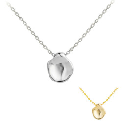 925 Sterling Silver Circle Concave Geometric Pendant Necklace 16 18quot; Gift K34 $14.95