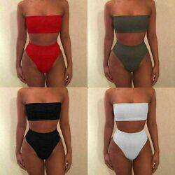 Swimsuit Bathing Women Sexy Push Up Bra High Waisted Bikini Set Swimwear Suit $3.44