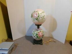 Vintage Hurricane Gone With The Wind Lamp Pink Shades $150.00