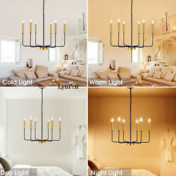 Candle Style Pendant Light Wood French Country Rust Chandelier Lamp Fixture US $159.99