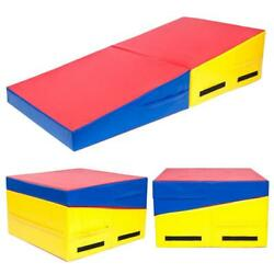 60quot;x30quot;x14quot; Foldable Incline Gymnastics Mat Ramp Wedge Non slip Tumbling Slope $110.99
