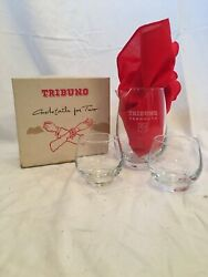 Vintage Tribuno Vermouth Cocktail For Two Martini Pitcher And 2 Glasses W Box $50.00