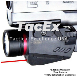 Combo Pistol LED Flashlight Red Laser Sight Fits 20mm Rail Pistol-Rifle $19.99