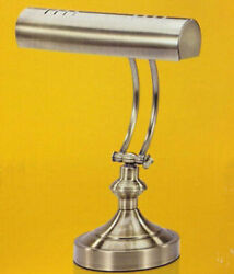 V Light Traditional Desk Lamp Antique Brass Finish 15 inches Tall Model VS100102 $69.99