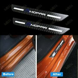 For MOPAR Carbon Car Rear Door Welcome Plate Sill Scuff Cover Decal Sticker 2PCS $12.99