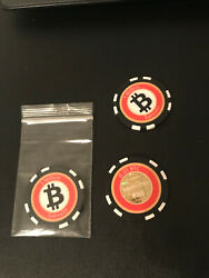 Bitcoin Poker Chip Wallet-Limited Edition 0.01 BTC Denominated $7.00