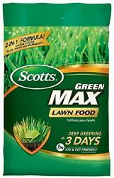 Scotts Green Max Dual action Lawn Food with iron for deep greening in 3 days $26.81