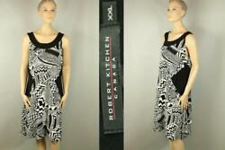 ROBERT KITCHEN Canada Black White Stretch Knit Trapeze Shift Dress XXL $15.00