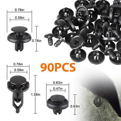 90x Car Push Type Fender Bumper Fasteners Clips for Lexus & Toyota 6.5mm 7mm 9mm $6.97