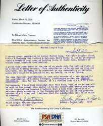 Lefty O`doul Psa Dna Coa Autographed 1960 Contract Hand Signed Authentic $129.00