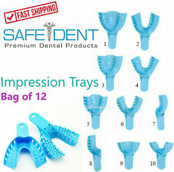 Dental Perforated Plastic Impression Trays Autoclave CHOOSE SIZE 1 Bag of 12 $6.10