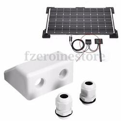 White Roof Solar Panel Cable Entry Gland Double Cable Gland Box For Caravan $17.62