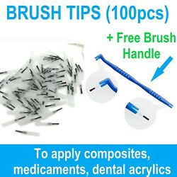 Brush Tips Regular 100 bag To Apply composites liquids etching amp; adhesives $9.20