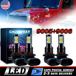 4pc LED Conversion Bulb Kit for Freightliner Columbia Headlights Lamp Low High $32.19