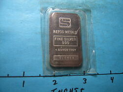 REFCO SIMMONS COMMERCIAL 999 SILVER ART BAR MINT SEALED RARE PIECE $59.95