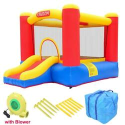 Inflatable Bounce House Slide Kids Jumper Castle 350W Blower Home Garden Yard $159.90