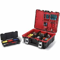 Keter Resin Technician Portable Tool Box Organizer with Cushioned Dividers $38.79