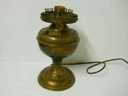 Vintage Brass Phoenix Oil Lamp Knob Electric Pedestal Lamp WORKS $44.96