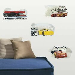Cars 3 Disney RoomMates Vinyl Wall Bedroom 4 Removable Decal Stickers RMK3464SCS $13.49