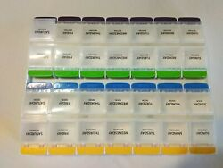 Multi-Colored Weekly 28 Day Tablet Pill Box Organizer. $11.00
