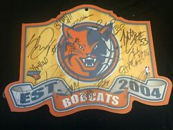 Charlotte Bobcats 2004 Wood floor with 20 signatures Henderson Stephen Jackson A $27.29
