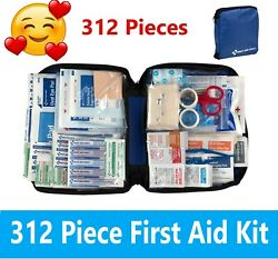 299 pc First Aid Kit Emergency Bag Home Car Outdoor All Purpose Kit Portable $26.99