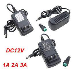 12V 1A 2A 3A Power Supply Charger Adapter Connector For 35285050 Led Strip Light $5.28