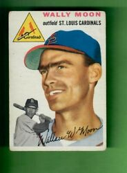 1954 TOPPS #137 WALLY MOON ST. LOUIS CARDINALS ROOKIE CARD