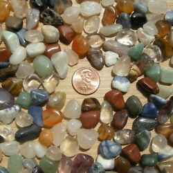 12LB Lot Polished Stones & Crystals Colorful Tumbled Rocks Mixed Small Size 8oz $6.50