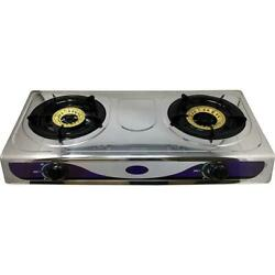 Portable 2-Burner 15 in Propane Gas Stainless Steel Cook top Stove Hose  $65.00