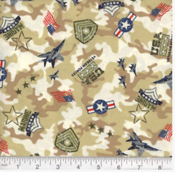 US Navy 100% cotton fabric - by the yard print #17 - QOV Military Marines MDG $7.25