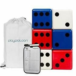 Play Platoon Lawn Dice Giant Wooden Yard Dice Game for Playing Outdoor Games $24.99