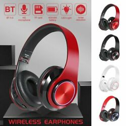 Bluetooth Noise Cancelling Headphones Over Ear Stereo Earphones Wireless Headset $17.99